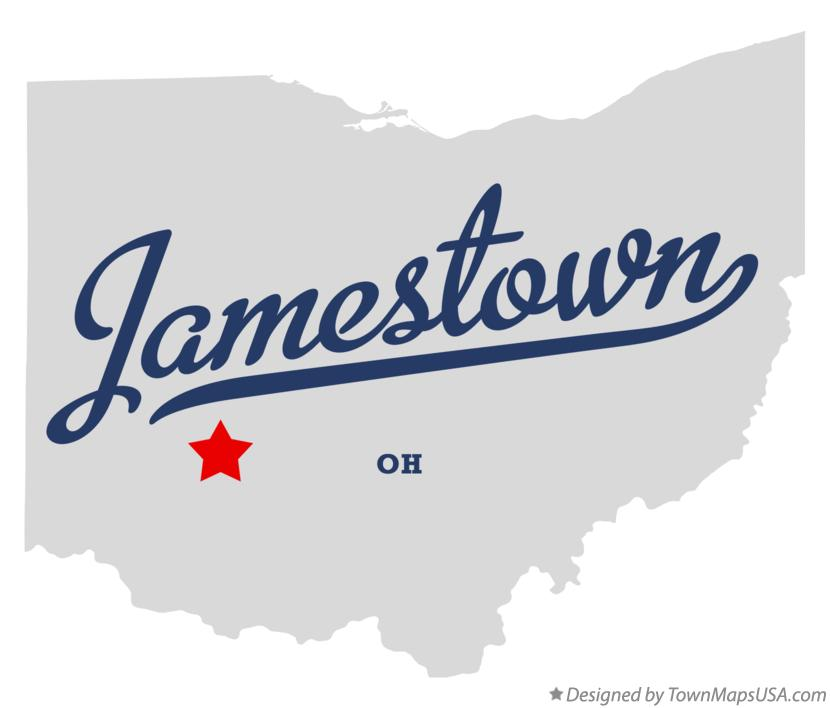 Map of Jamestown Ohio OH