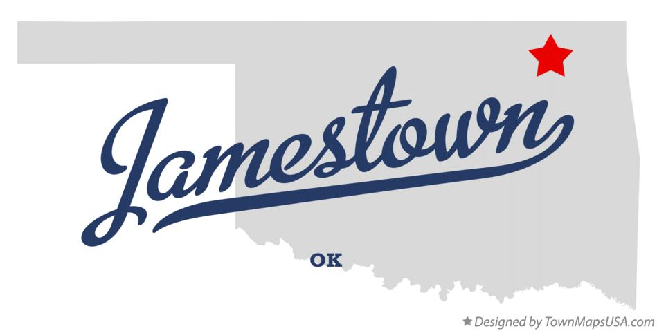 Map of Jamestown Oklahoma OK