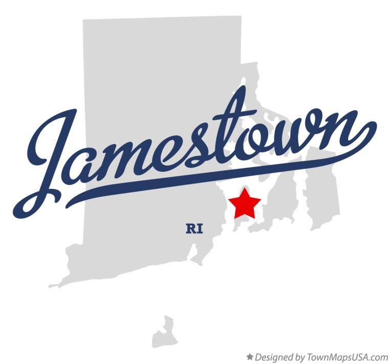 Map of Jamestown RI Rhode Island