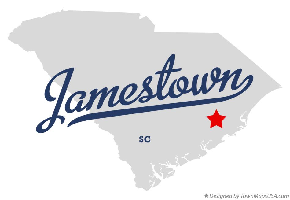 Map of Jamestown South Carolina SC
