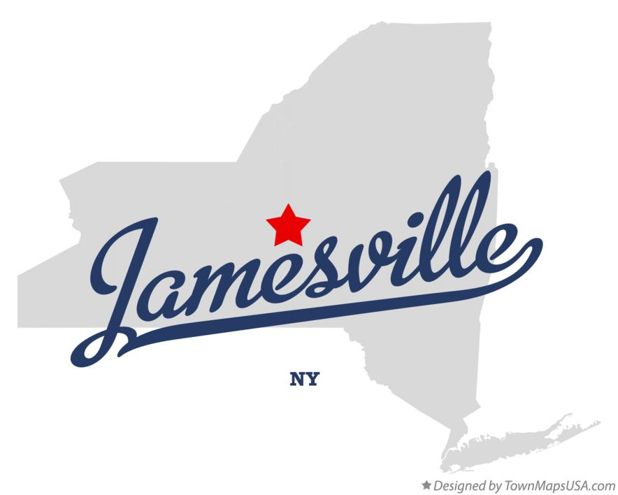Map of Jamesville New York NY