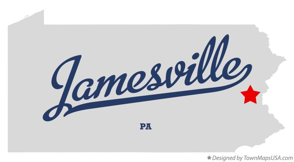 Map of Jamesville Pennsylvania PA