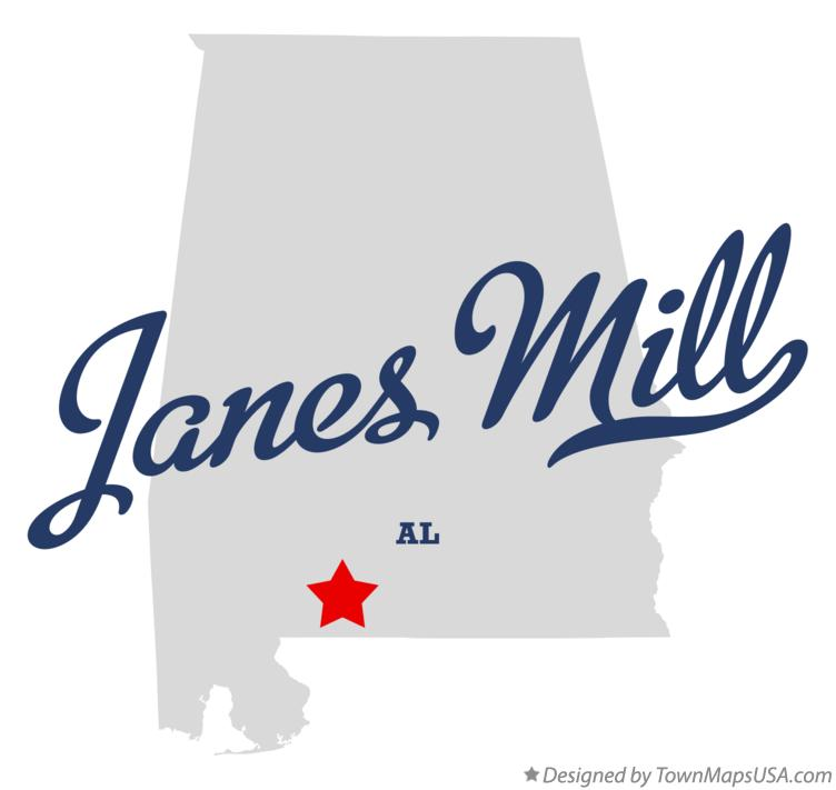 Map of Janes Mill Alabama AL