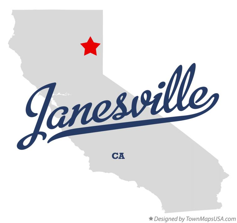 Map of Janesville California CA