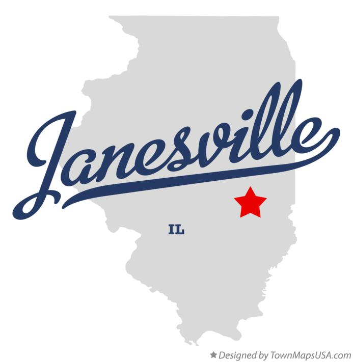 Map of Janesville Illinois IL