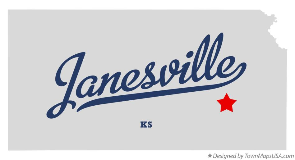 Map of Janesville Kansas KS