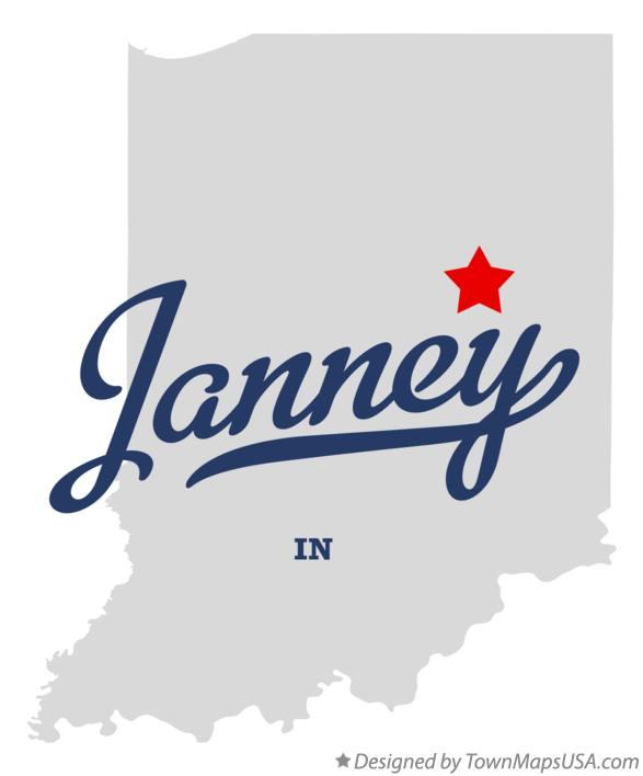 Map of Janney Indiana IN