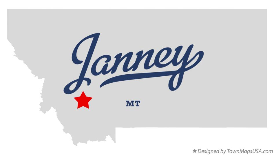 Map of Janney Montana MT