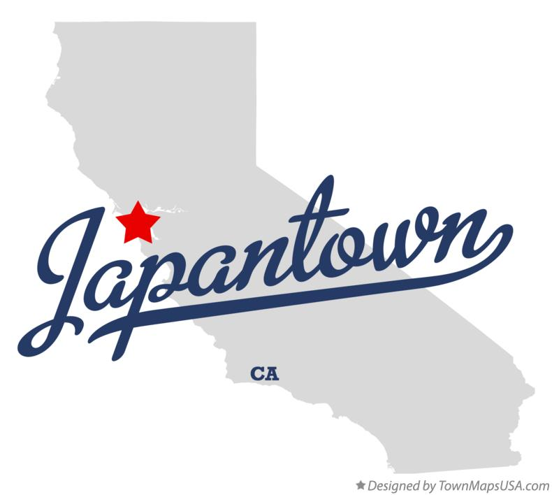 Map of Japantown California CA