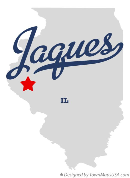 Map of Jaques Illinois IL