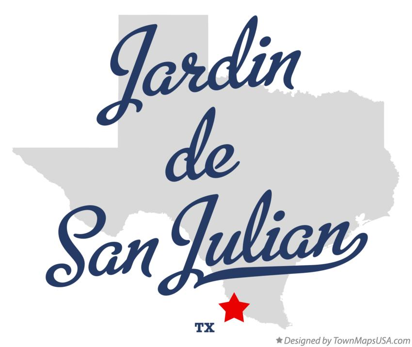 Map of Jardin de San Julian Texas TX