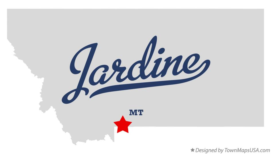 Map of Jardine Montana MT