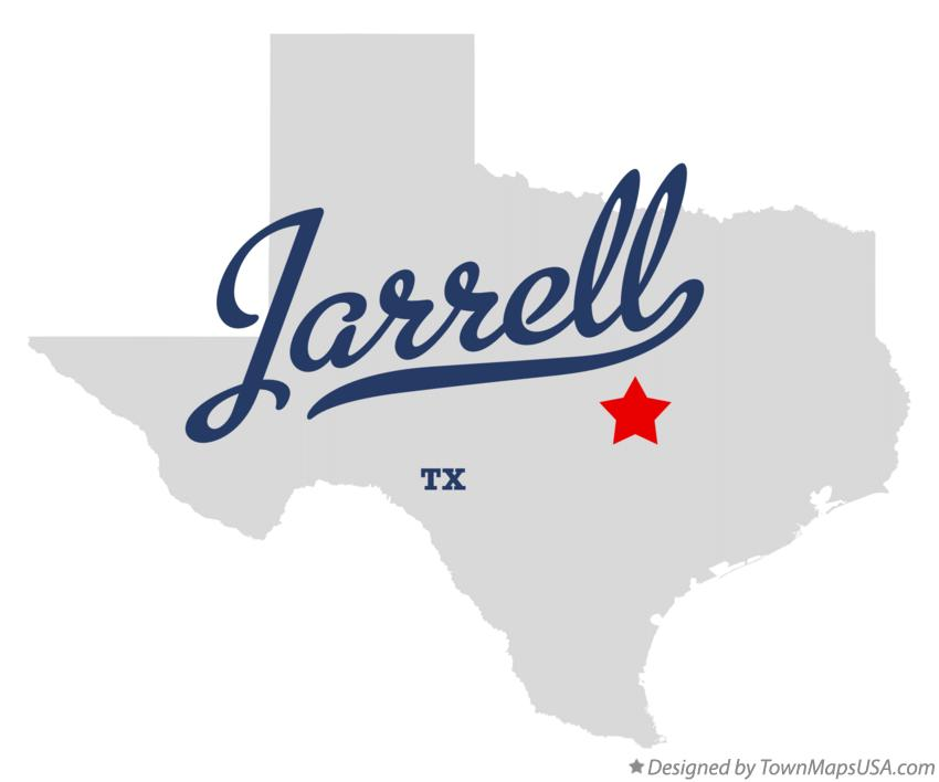 Map of Jarrell Texas TX