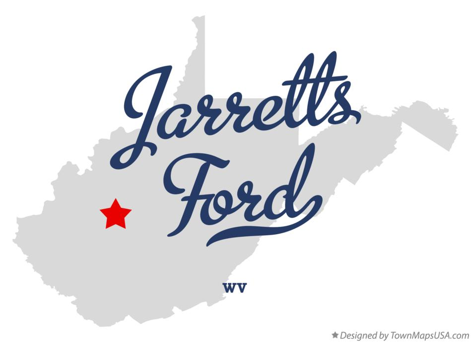 Map of Jarretts Ford West Virginia WV