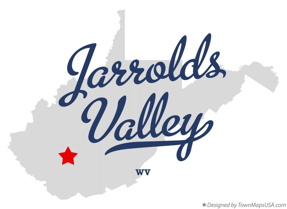 Map of Jarrolds Valley West Virginia WV