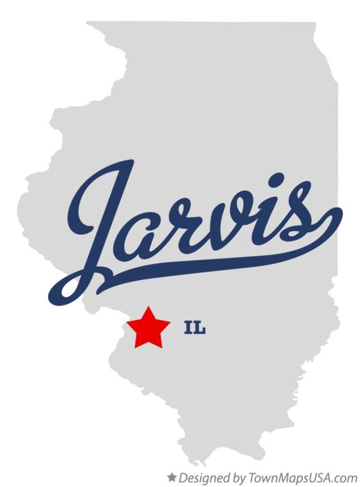 Map of Jarvis Illinois IL