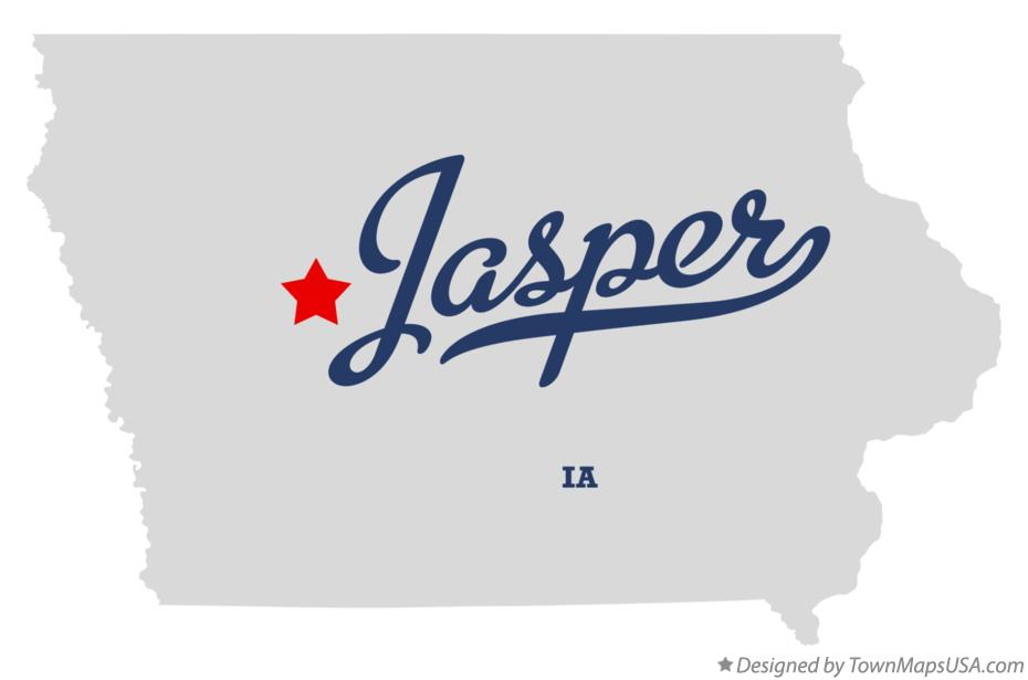 Map of Jasper Iowa IA