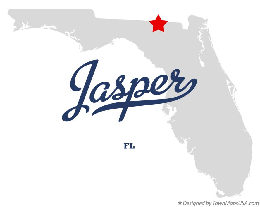 Map of Jasper Florida FL
