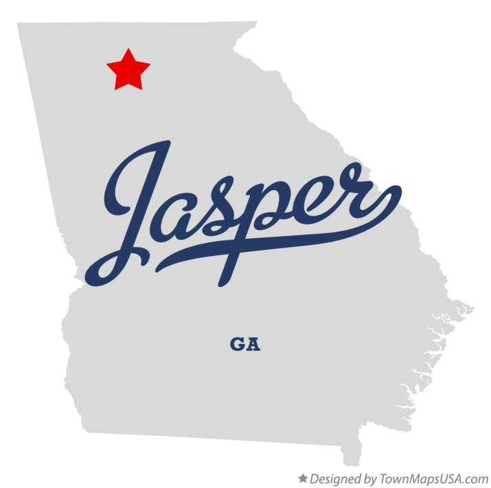 Map of Jasper Georgia GA