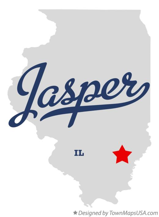Map of Jasper Illinois IL