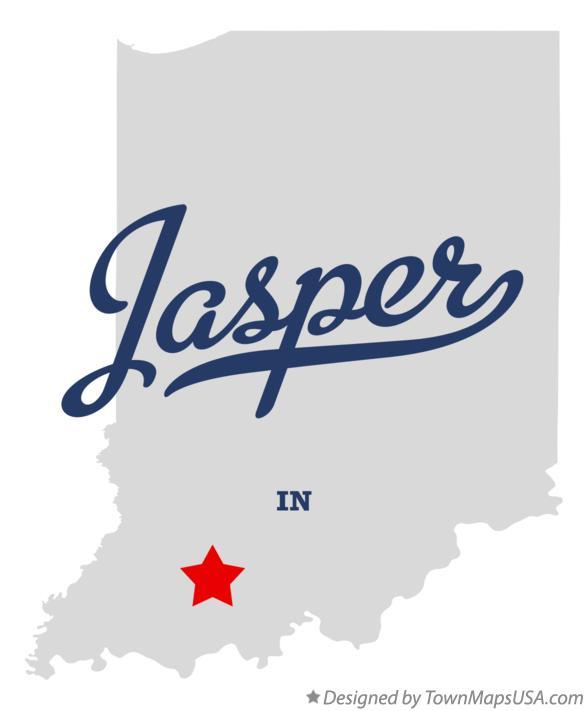 Map of Jasper, IN, Indiana