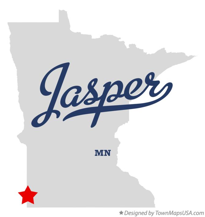 Map of Jasper Minnesota MN