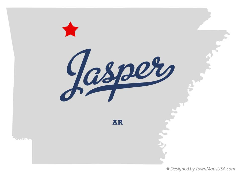 Map of Jasper Arkansas AR