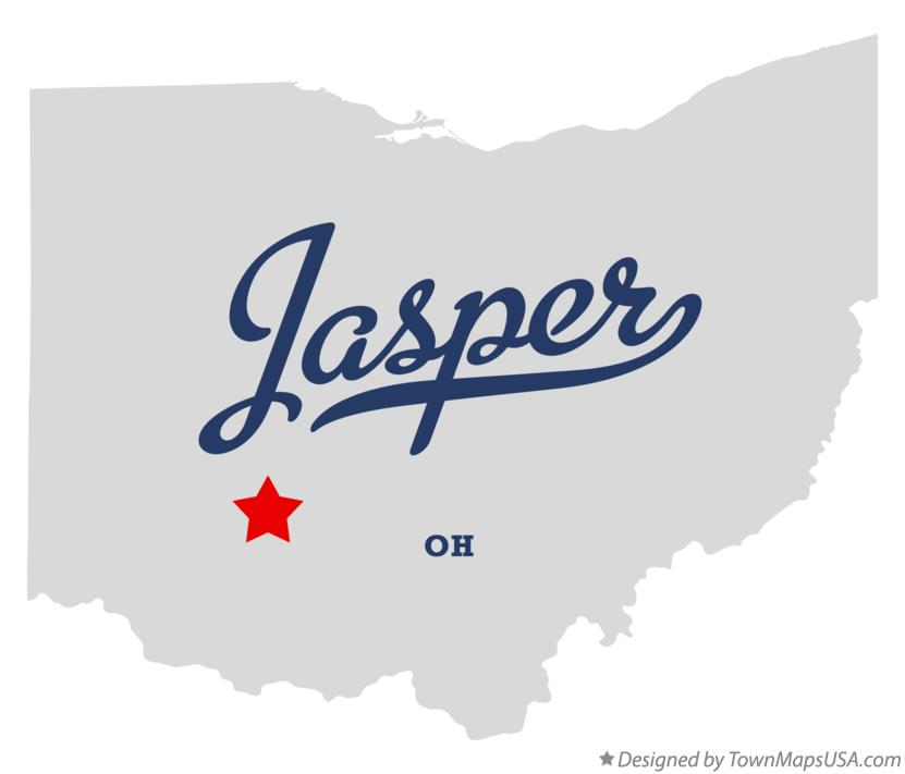 Map of Jasper Ohio OH