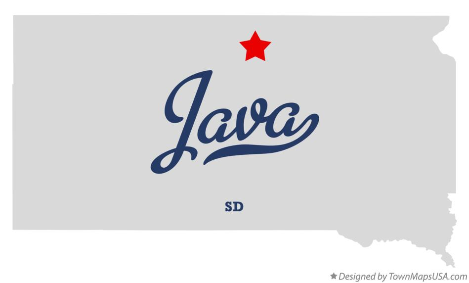 Map of Java South Dakota SD