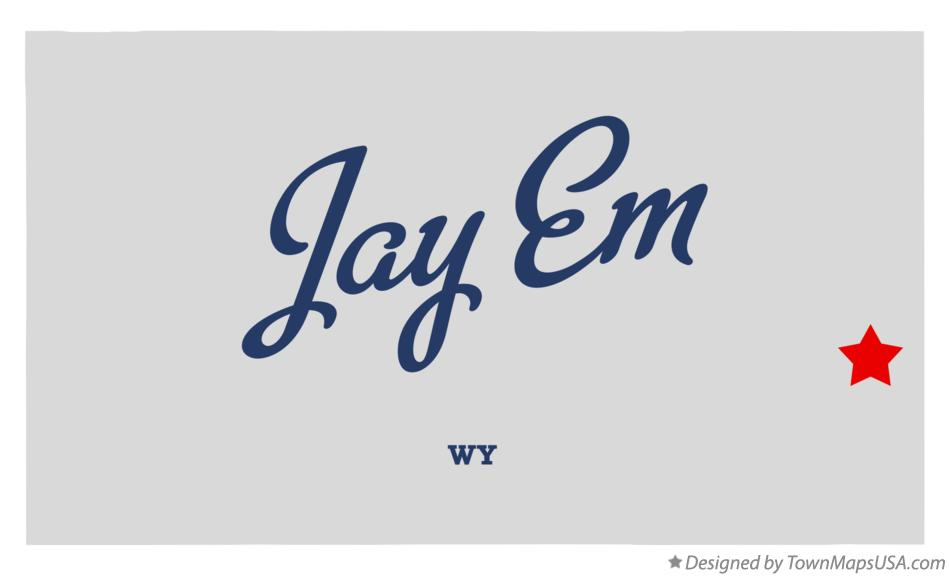 Map of Jay Em Wyoming WY