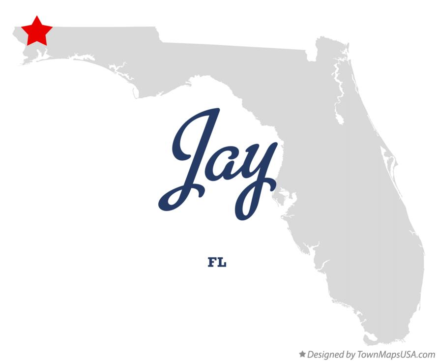 Map Of Jay Fl Florida