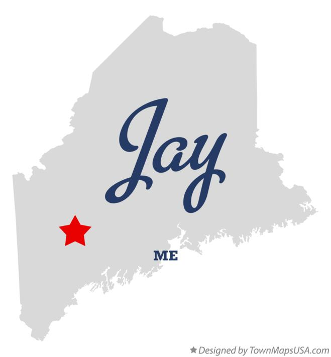 Map Of Jay Me Maine