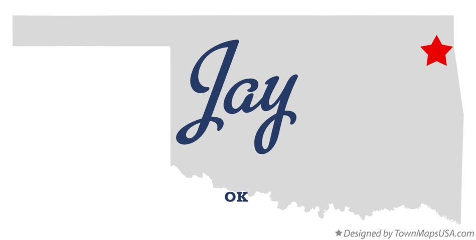 Map Of Jay Ok Oklahoma