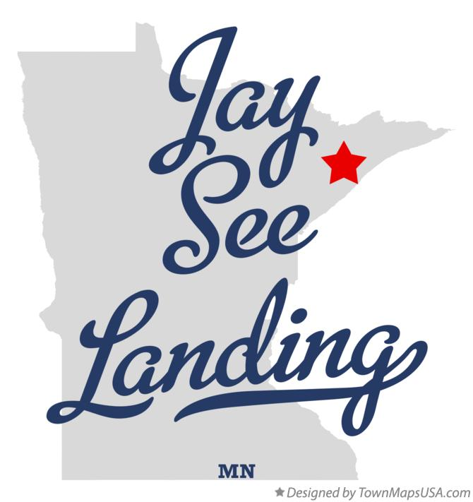 Map of Jay See Landing Minnesota MN