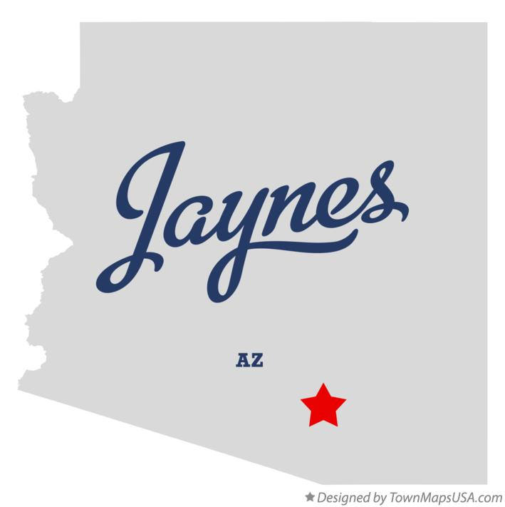 Map of Jaynes Arizona AZ