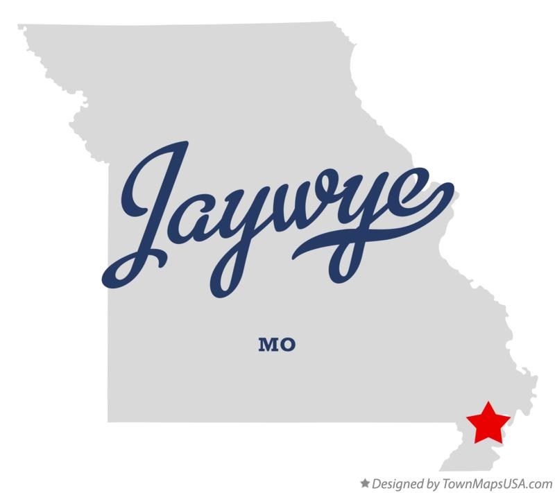 Map of Jaywye Missouri MO