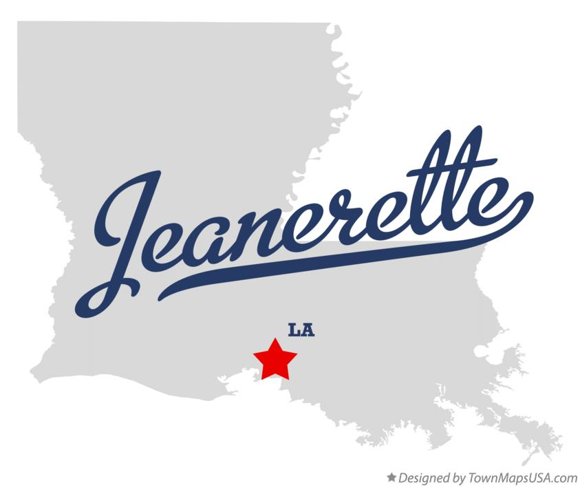 Map of Jeanerette Louisiana LA