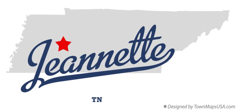 Map of Jeannette Tennessee TN