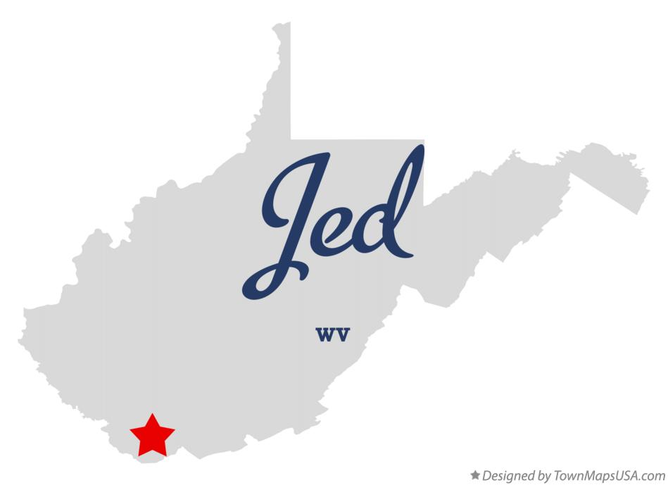 Map of Jed West Virginia WV