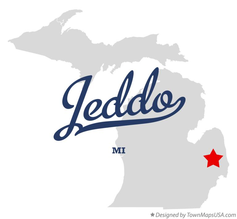 Map of Jeddo Michigan MI