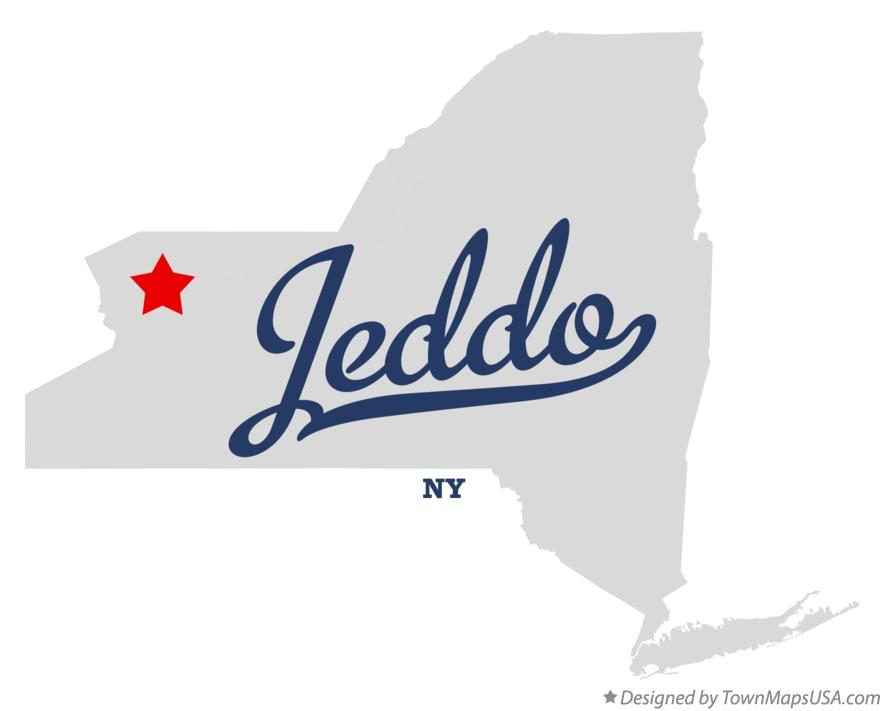 Map of Jeddo New York NY