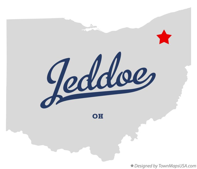 Map of Jeddoe Ohio OH