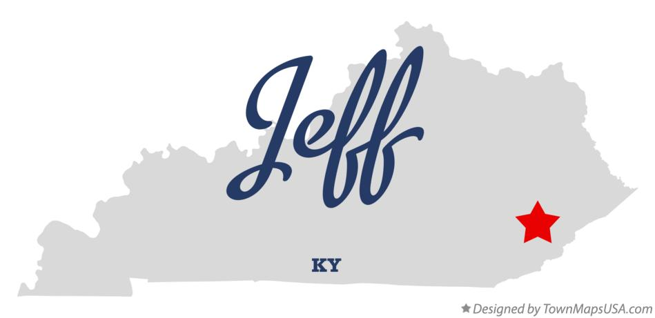 Map of Jeff Kentucky KY