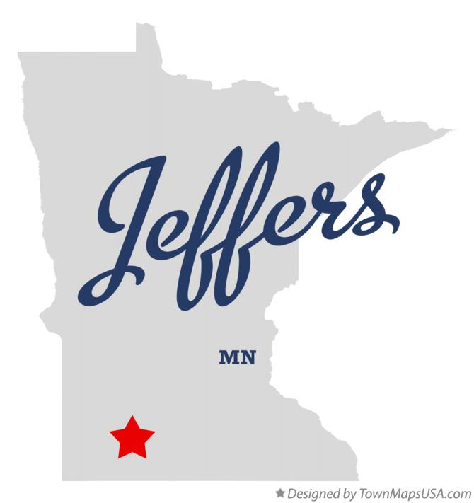 Map of Jeffers Minnesota MN