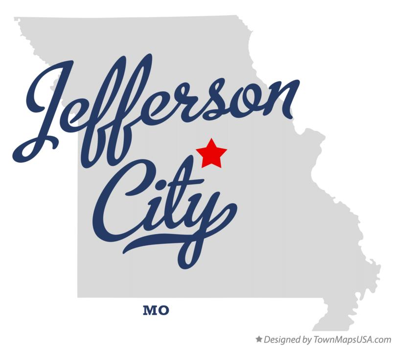 Map of Jefferson City, MO, Missouri
