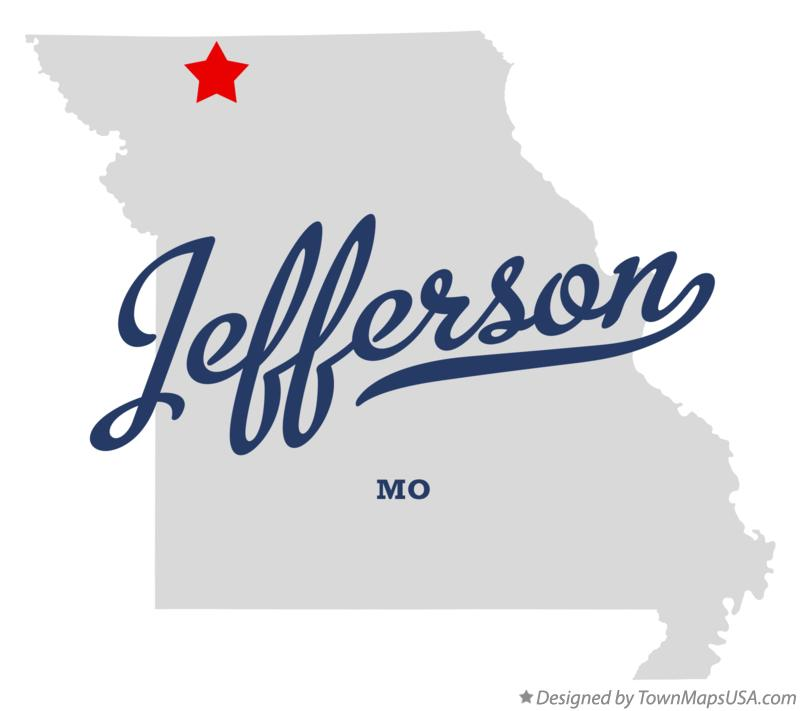 Map of Jefferson Missouri MO