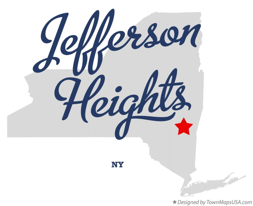 Map of Jefferson Heights New York NY