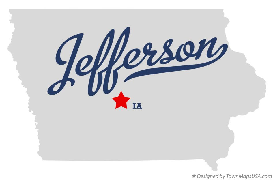 Map of Jefferson Iowa IA