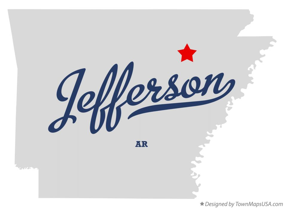 Map of Jefferson Arkansas AR