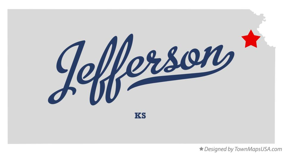 Map of Jefferson Kansas KS